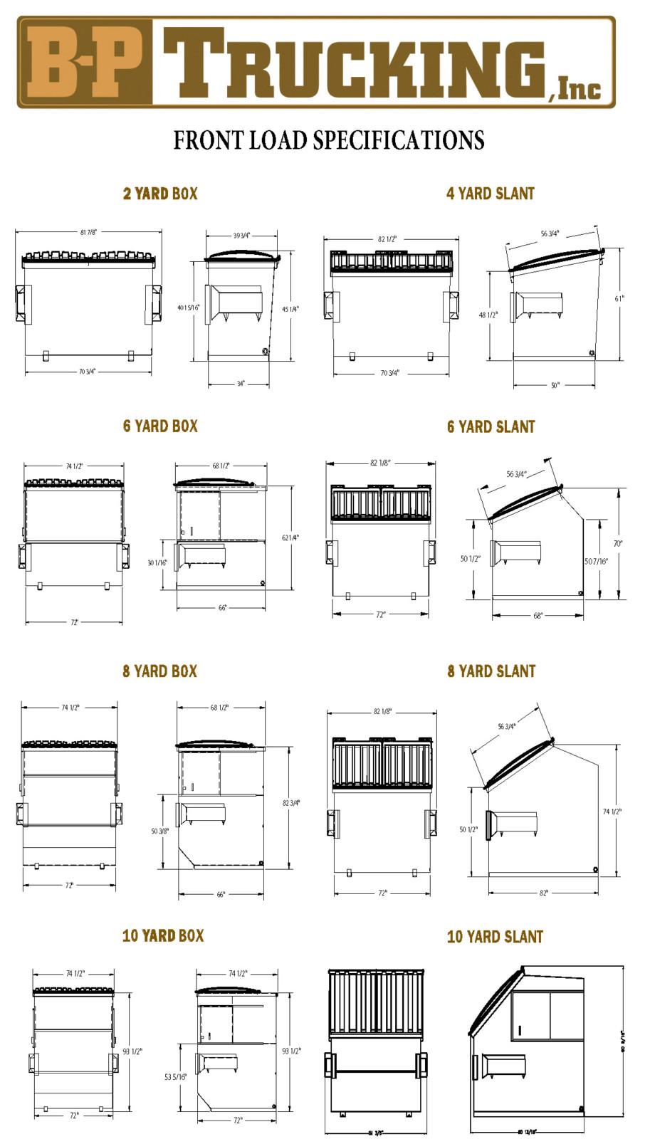 Front Load Specifications2 B P Trucking Inc